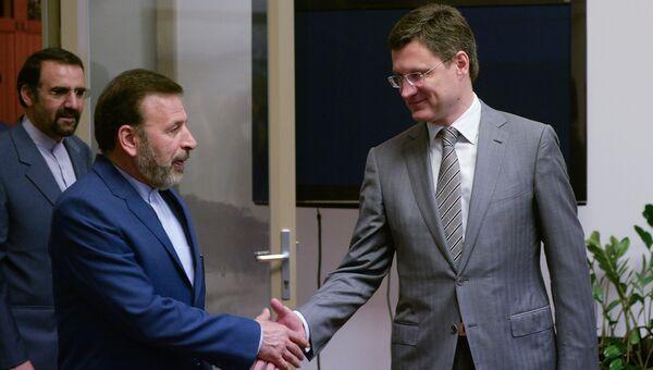 Министр энергетики РФ Александр Новак и министр связи и информационных технологий Ирана Махмуд Ваэзи