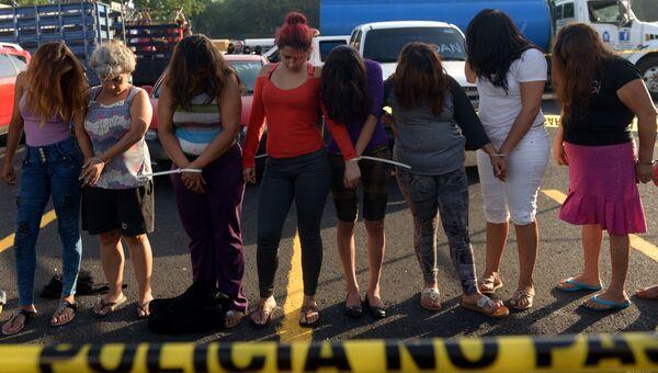 Задержанные члены банды Mara Salvatrucha (MS) в Сальвадоре