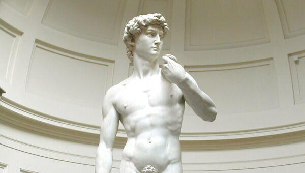 Давид - мраморная статуя работы Микеланджело. Архивное фото