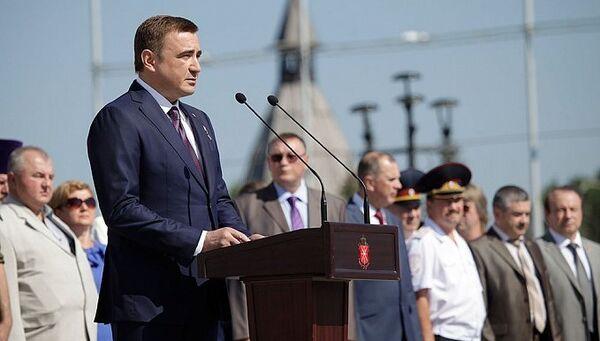 Врио губернатора Тульской области Алексей Дюмин во время празднования дня ВДВ в Туле
