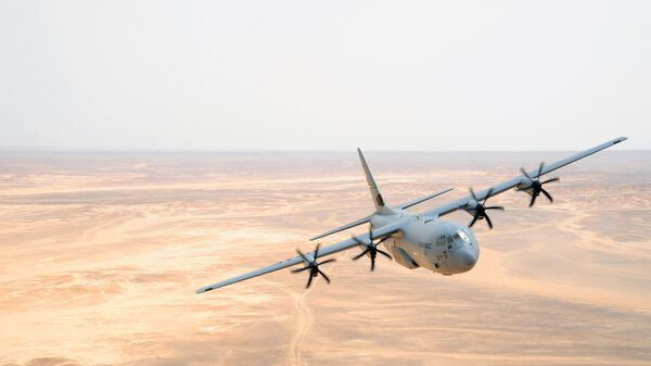 Военно-транспортный самолет ВВС США C-130J Hercules