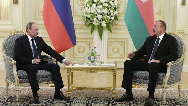 Визит президента РФ Владимира Путина в Азербайджан. Архив