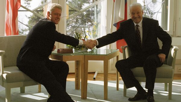 Борис Ельцин и Билл Клинтон. Архивное фото