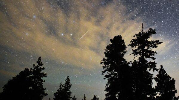Метеорный дождь в небе Невады, США