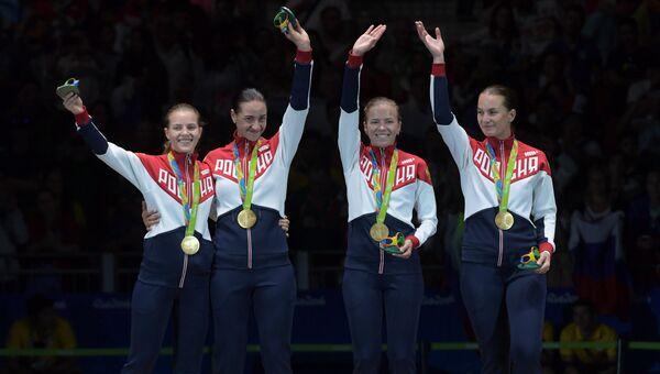 Олимпиада 2016. Фехтование. Женщины. Сабля. Командное первенство