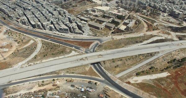 Основной въезд в Алеппо с юго-западной стороны квартал Салахеддин