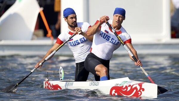 Российские гребецы-каноисты Илья Штокалов и Илья Первухин на летних Олимпийских играх в Рио-де-Жанейро, 19 августа 2016