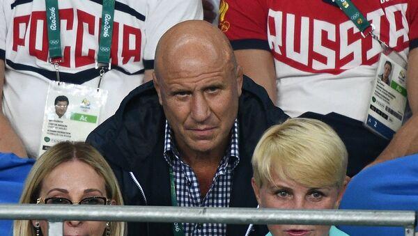 Президент Федерации спортивной борьбы России (ФСБР) Михаил Мамиашвили на XXXI летних Олимпийских играх.