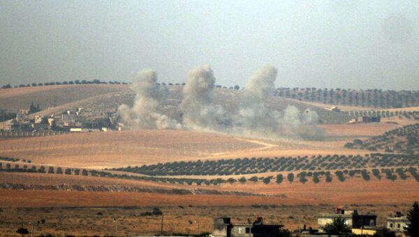 Операция по освобождению от боевиков террористической группировки Исламское государство северного сирийского города Джараблус. Архивное фото