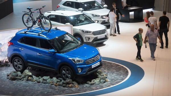 Автомобили Hyundai Creta на Московском международном автомобильном салоне-2016