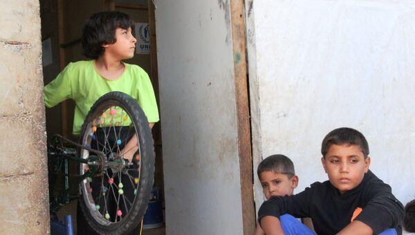 Дети беженцев в Алеппо. Архивное фото