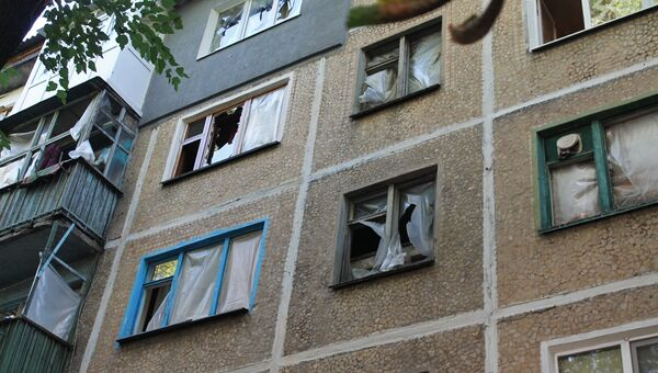 Последствия обстрела Куйбышевского района Донецка украинскими силовиками. Архивное фото