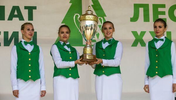 Команда из Архангельской области выиграла второй чемпионат Лесоруб XXI
