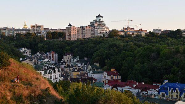 Вид на один из районов Киева