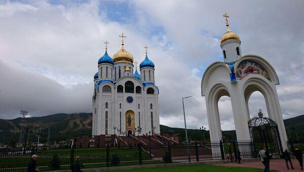 Кафедральный собор Рождества Христова в Южно-Сахалинске, который освтятит патриарх Кирилл в ходе визита на Сахалин