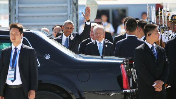 Президент США Барак Обама в аэропорту Ханчжоу, 3 сентября 2016