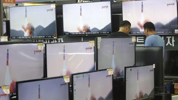 Репортаж о пуске ракет в КНДР. Архивное фото
