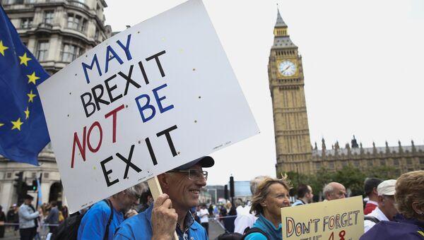 Акция протеста против результатов Brexit в Лондоне . Архивное фото