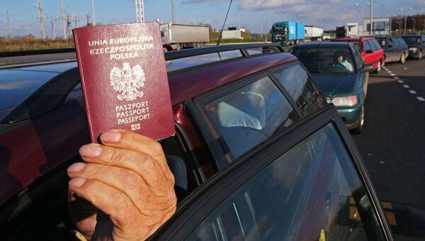 Пограничный пункт перехода Мамоново-2 на границе с Польшей. Архивное фото