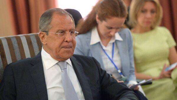 Министр иностранных дел РФ Сергей Лавров принял участие в встрече глав МИД СНГ