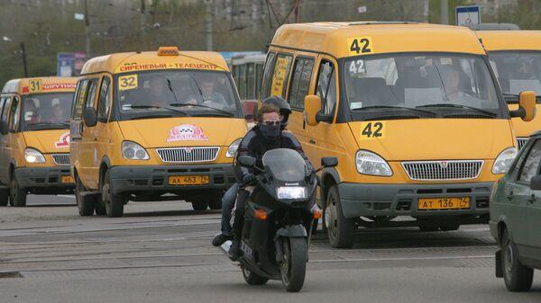 Маршрутные такси в Магнитогорске. Архивное фото