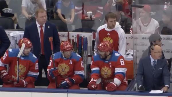 Кубок мира по хоккею. Россия - Швеция. Стоп-кадр из видео