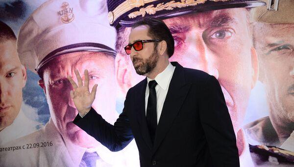 Актер Николас Кейдж на премьере фильма Крейсер в Москве. 20 сентября 2016