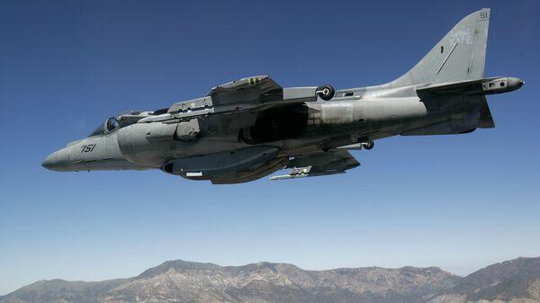 Американский штурмовик AV-8B Harrier. Архивное фото