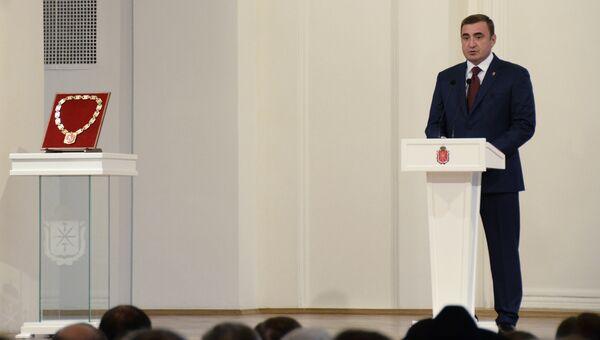 Избранный губернатором Тульской области Алексей Дюмин во время инаугурации. 22 сентября 2016