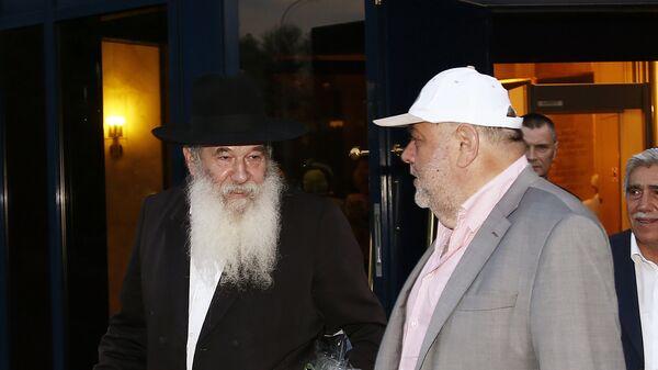 Раввин Ицхак Коган и президент Российского еврейского конгресса Юрий Каннер. Архивное фото