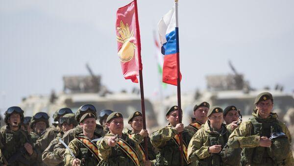 Военнослужащие российской армии во время международных антитеррористических учений. Архивное фото