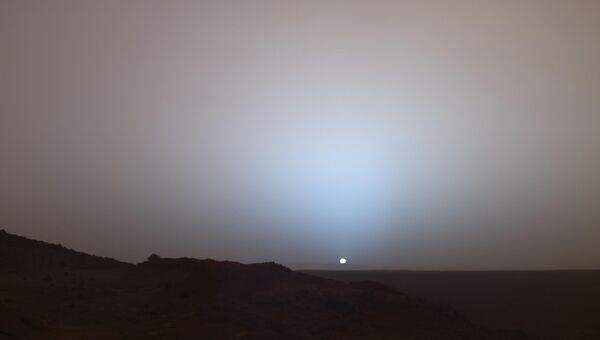 Закат на Марсе