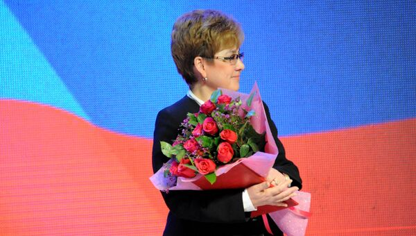 Губернатор Забайкальского края Наталья Жданова во время церемонии инаугурации