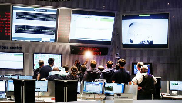 Центр управления полетами Европейского космического агентства. 30 сентября 2016