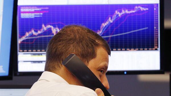 Трейдер на Франкфуртской фондовой бирже