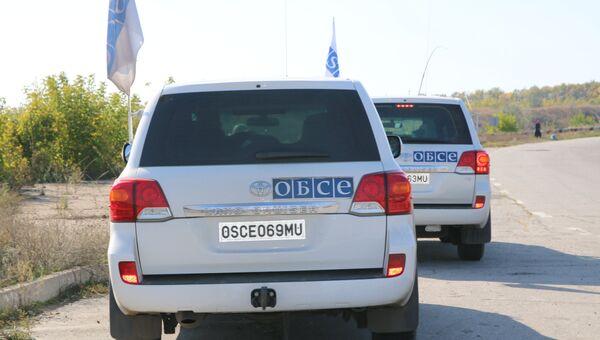 Автомобили ОБСЕ в районе Станицы Луганской