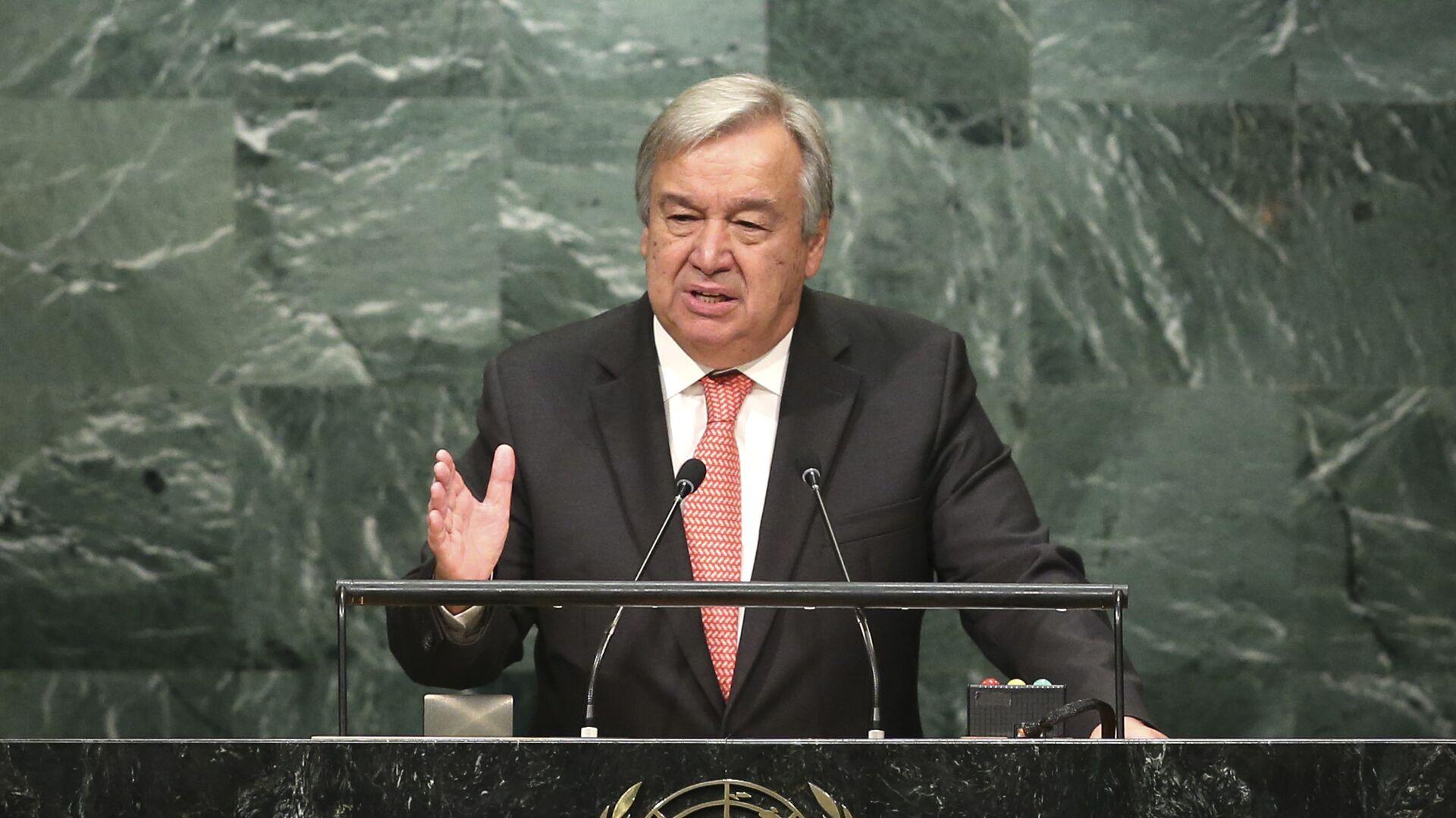 Антониу Гутерреш на заседании Генассамблеи ООН. 13 октября 2016 - РИА Новости, 1920, 26.01.2021