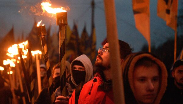 Мероприятия приуроченные к годовщине образования УПА (запрещена в РФ) на Украине. архивное фото
