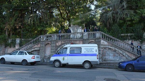 Полицейский автомобиль в Абхазии