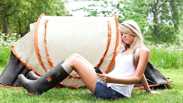 Резиновые сапоги Orange Power Wellies с термоэлектрическим модулем для зарядки гаджетов