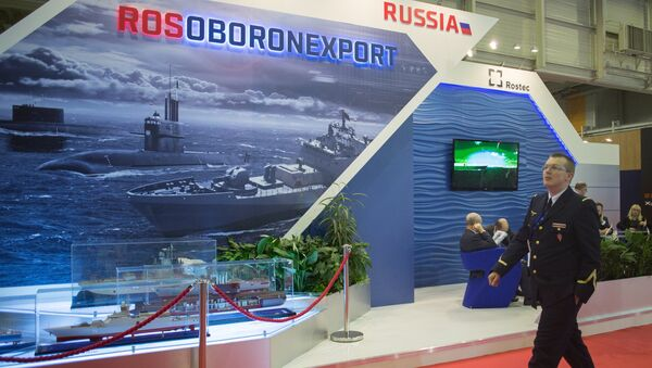 Стенд АО Рособоронэкспорт. Архивное фото