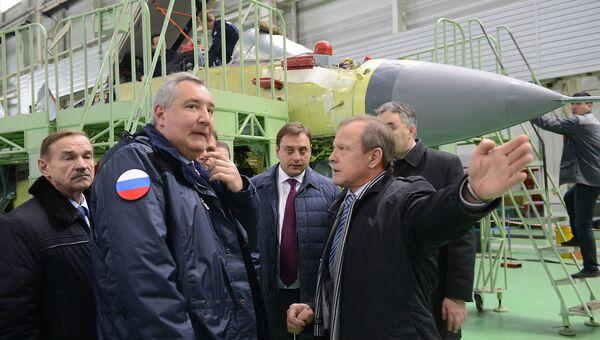 Дмитрий Рогозин посетил производство корпорации МиГ в Луховицах. 18 октября 2016