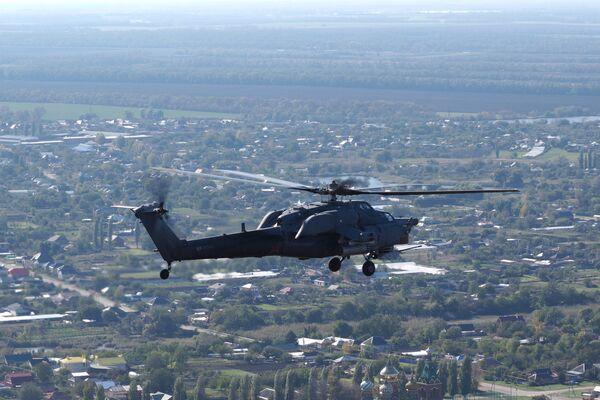 Учения вертолетного полка в Краснодарском крае