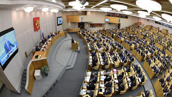 На пленарном заседании Государственной Думы РФ. Архивное фото