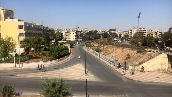 Район гуманитарного коридора Алеппо в Сирии. Архивное фото
