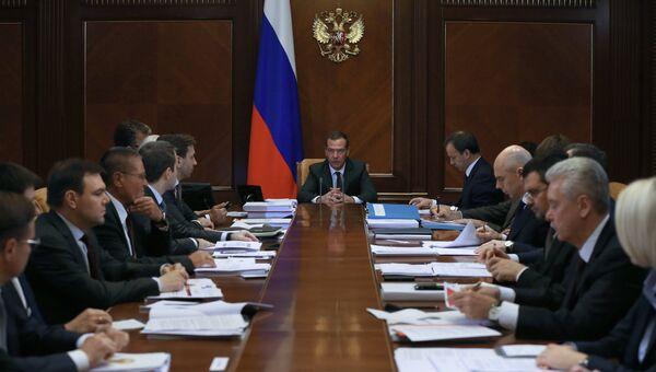 Председатель правительства РФ Дмитрий Медведев проводит заседание правительственной комиссии по использованию IT для улучшения качества жизни. 24 октября 2016
