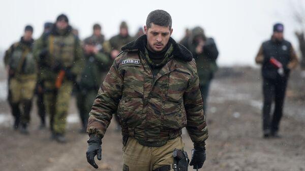 Ополченец Донецкой народной республики с позывным Гиви. Архивное фото