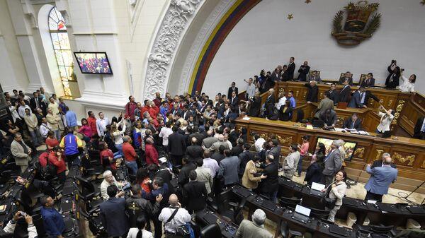 Зедание Национальной ассамблеи (парламента) Венесуэлы в Каракасе