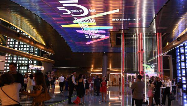 Церемония закрытия 1-го фестиваля российского кино в Ливане Пять лет за пять дней в киноцентре Beirut Souks CinemaCity в Бейруте