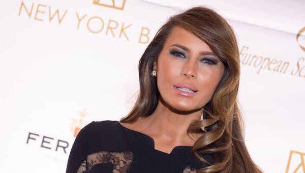 Жена кандидата на пост президента США Дональда Трампа Меланья. 2014 год